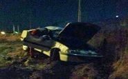 مصدومیت 2 نفر در واژگونی پژو پارس