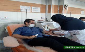 گزارش تصویری اهدای خون خبرنگاران در سازمان انتقال خون استان کرمانشاه