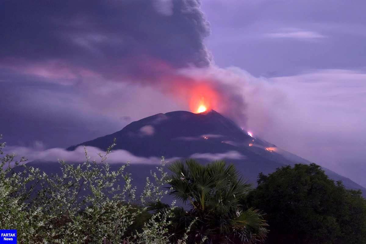 آتشفشان اندونزی فوران کرد