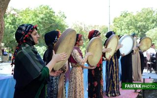 گزارش تصویر اولین جشنواره میوههای بهشتی و آیینهای محلی ریژاب در سراب شالان