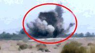 لحظه برخود خودروی پلیس ایرانشهر با تله انفجاری تروریستها
