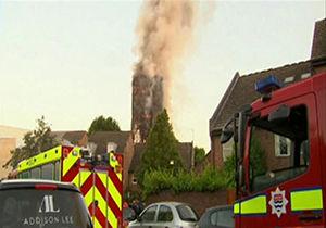 جزئیات آتش سوزی برج گرنفل/ ۱۲۰ خانوار مسلمان در این برج زندگی میکردند + فیلم