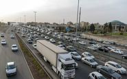 ترافیک نیمه سنگین در ورودی پایتخت