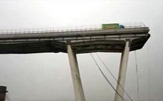 58 کشته و زخمی بر اثر فرو ریختن یک پل هوایی در ایتالیا + فیلم