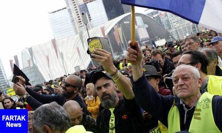 اولین تظاهرات معترضان جلیقه زرد فرانسه بعد از آتشسوزی کلیسای نتردام
