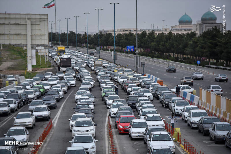وضعیت عوارضی تهران - قم + عکس