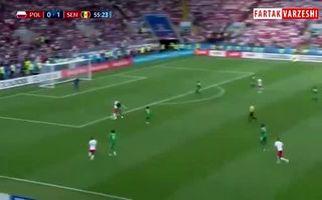 خلاصه بازی لهستان 1 - سنگال 2 +فیلم