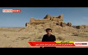 حفاری های غیر مجاز در محوطه تاریخی بهر آباد + فیلم