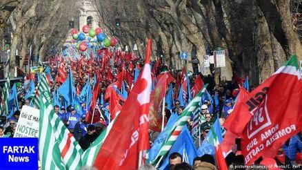 اعتراض گسترده مردم ایتالیا به سیاستهای دولت پوپولیست