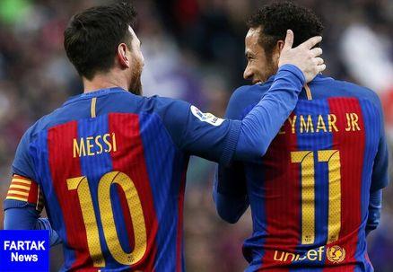 تماس مسی با نیمار برای بازگشت به بارسلونا