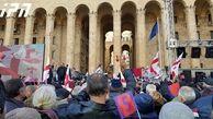 معترضان به نتایج انتخابات گرجستان در مقابل مجلس تجمع کردند