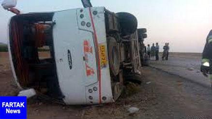 واژگونی اتوبوس دانشآموزان ابتدایی در جاده کلات و فوت یک نفر تاکنون