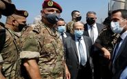بازدید میشل عون از محل انفجار در بندر بیروت