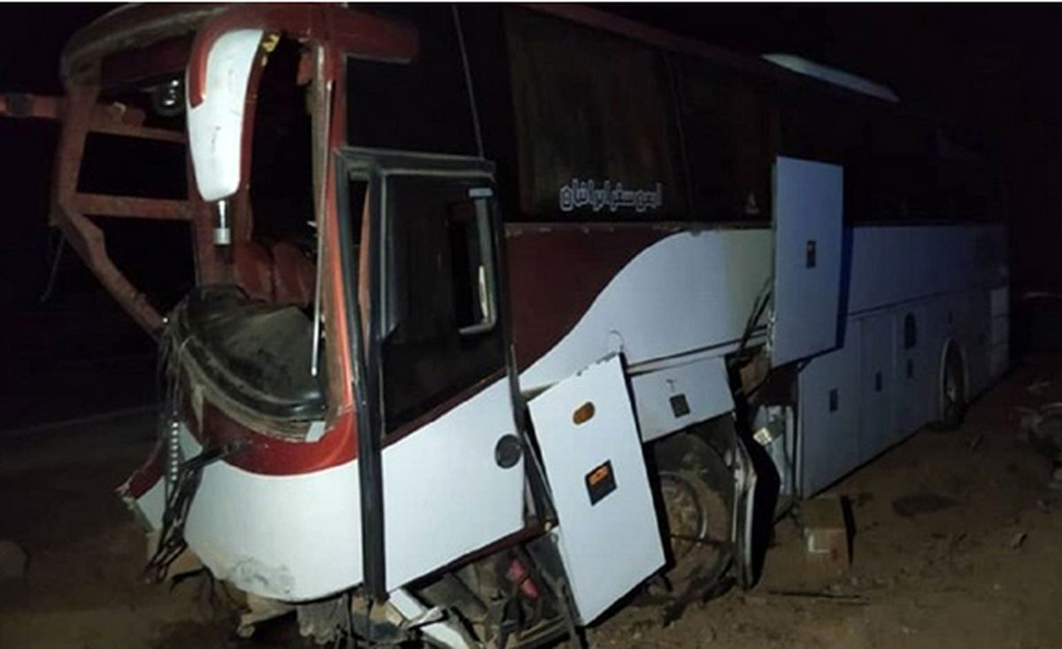 اتوبوس مسافربری تهران دچار حادثه شد