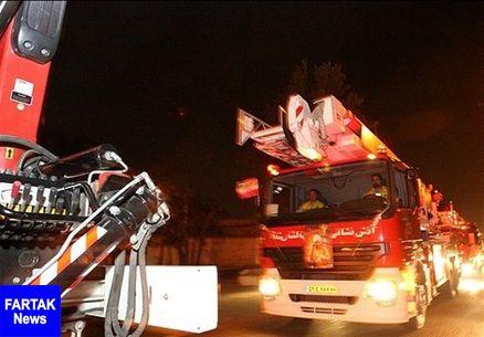 نجات ۱۰۰ نفر از آتشسوزی بامدادی در برج ۱۲ طبقه مسکونی