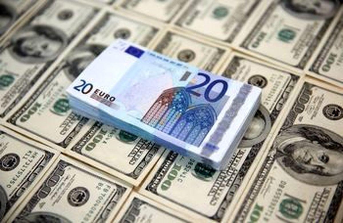 کاهش نرخ رسمی ۲۳ ارز امروز دوشنبه ۲۸ تیر