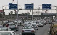 ترافیکی نیمه سنگین در آزاد راه کرج - قزوین