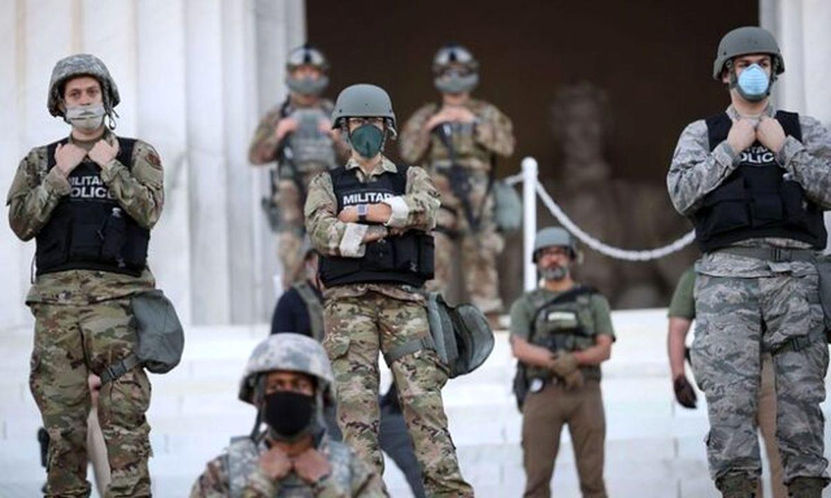 حالت آماده؛انتقال ۱۶۰۰ نیروی ارتش به واشنگتن