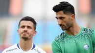 خداحافظی مظاهری از بازیکنان بعد از تمرین امروز استقلال