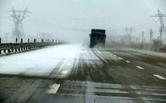 یخبندان در جادههای دو استان