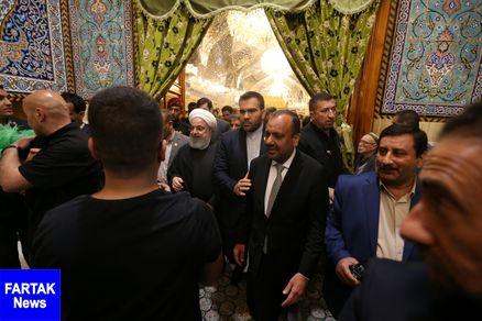 روحانی مسجد کوفه را زیارت کرد