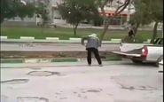 اقدام عجیب شهرداری شوشتر برای ترمیم خیابان! + فیلم