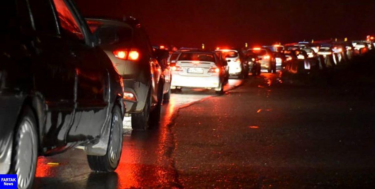 ترافیک سنگین شبانگاهی در خروجی های شمال