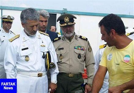 بازدید امیر سیاری از توانمندی غواصان نیروی دریایی ارتش