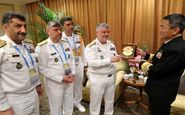 دیدار امیر خانزادی با فرماندهان نیروهای دریایی ژاپن و ایتالیا