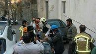 نجات کارگر حبس شده از زیر آوار +تصاویر