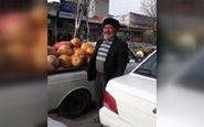 میوه فروش اردبیلی ، این بار درحال فروختن کدو تنبل