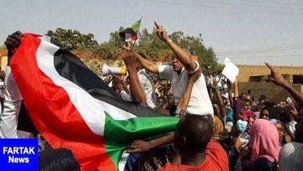 اعتراضات در سودان همزمان با ادای سوگند دولت جدید