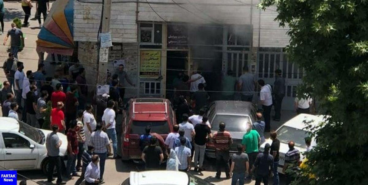 آتشسوزی کارگاه خیاطی در اردبیل مهار شد